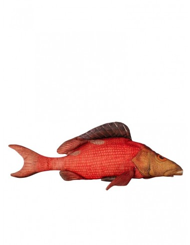 Coussin long poisson rouge